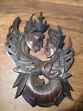 Máscara de madera precisamente, hermosas viejas figura, Thai Ebony Wood Mask carving