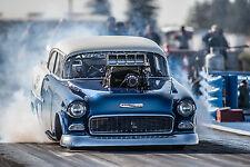 "Drag Racing Race Hot Rod chevrolet bel air engi Mini Poster 13""x19"" HD"