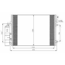 Kondensator Klimaanlage - NRF 35430
