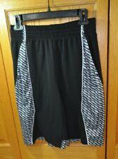 Tek Gear Men's Basketball Shorts Black with Rare Zigzag Pattern Sz Small Euc