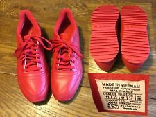 Reebok 13 D Red Running Shoe Training A2349 Classic Leather Ripple Mono EXC COND