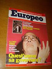 L'EUROPEO 1984/22=CRAXI=GIORGIO MORODER=ENZO SPALTRO=GEORGES PEREC=SAN MARINO=