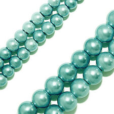 Magnetic Hematite Beads Pearlized Turquoise Blue Round 6mm Bead Strands P25B