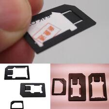 MICRO KIT 4IN1 ADATTATORE NANO SCHEDA SIM per IPHONE NANOSIM CONVERTITORE CARD w