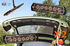 2 X Super Slim Flatline FL6LED LED Intermitente Luces 12/24V ámbar balizas de recuperación