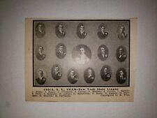 Utica Pent-Ups 1909 Team Picture George Burns Ben Egan Tommy Madden