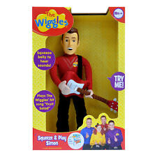 "NEW NIB The Wiggles Squeeze & Play Singing Talking Sounds 14"" Simon Plush Doll"