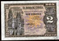 2 Pesetas 1938 Burgos @ SIN CIRCULAR @