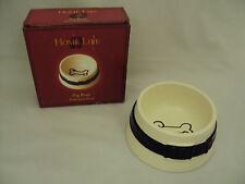 "Dog Bowl, Ceramic Feeding Bowl,  6"" Ceramic Bowl with Dog Bone Detail Free Ship"