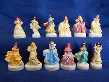 DISNEY PRINCESSES Set 12 French Porcelain Feves GOLD Figures ARIEL Aurora BELLE