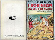 racconti e avventure emilio salgari #81 i robinson s. talman rare 1°edition 1936