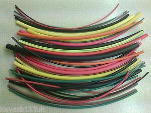 SHRINK TUBE OR SLEEVING IN 6 DIFFERENT SIZES & 12 DIFFERENT COLOURS.