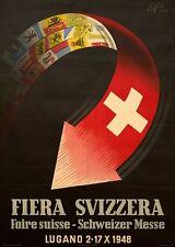 Original Plakat - Fiera Svizzera - Foire suisse - Schweizer Messe Lugano