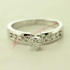 .40 Ct Heart Shaped & Princess Diamond Kite Design Engagement Ring Channel Set