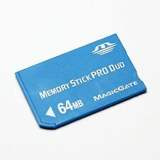 64MB Memory Stick Pro Duo Card, MS 64MB Memory Card with Adapter and Case