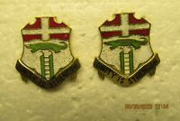Two 6th Infantry Regiment DUI Crest Unity Is Strength Lapel Pins