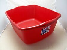 Red Kitchen X Large Sterilite 18 Qt Plastic Sink Dish Pan Wash Tub Laundry