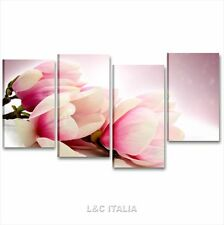 Magnolia QUADRI MODERNI ARREDO CASA SALOTTO CAMERA STAMPA TELA FIORI FLOWER XXL