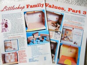 6p History Article - VTG Littlechap Doll House Family Structures + Furniture
