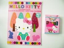 Hello Kitty Coloring Book 40 Pages & 8 Jumbo Crayon For Kids Great Gift