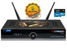 Octagon SF8008 4K UHD DVB-S2X & T2C Combo Receiver - Schwarz