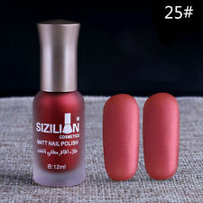 Red Long-lasting Nail Polish Matte Top Coat Satin Frosted Manicure Nail Art 25#