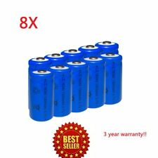 8pcs 16340 CR123A Goldhunter 3.7V 1200mAh Rechargeable Li-Ion Battery Batteries