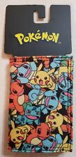 NEW! Pokemon Trifold Velcro Wallet By bioWorld  - Officially Licensed