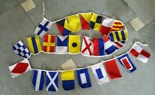 MARINE NAVY Signal Code FLAG Set - String of 26 Flag - 8 Feet Long