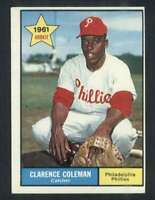 1961 Topps #502 Clarence Coleman EX/EX+ RC Rookie Phillies 72973