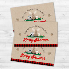 10 Lumberjack Woodland Forest Animals Baby Shower Personalized Thank You Tags