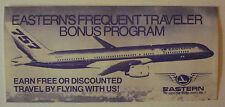 Eastern Airlines Eastern's Frequent Traveler Bonus Program Plus Newsletter 1984