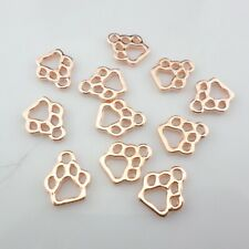 20pcs Tibetan Rose gold Paw Print Charms Crafts Pendants Jewelry Making 11*13mm