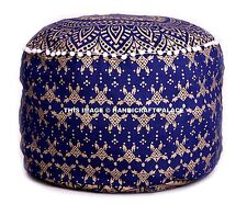 "Pouf Ottoman 22"" Ethnic Indian Mandala Pouffe Foot stool Round Poof Floor Pillow"