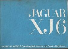 JAGUAR  XJ 6   2.8    4.2   Handbook Bedienungsanleitung Owner´s Manual BA