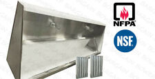 20 Ft Restaurant Commercial Kitchen Exhaust Hood Low Profile Sloped Front