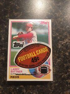 Super Rare Error Pack 1983 Topps MLB Baseball Cello Pack In Football Wrapper!