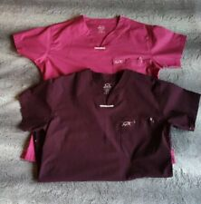 Lot of Two women Iguana Med Scrub Tops Size Small