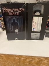 VINTAGE 1994 FRIDAY THE 13TH PART 3 HORROR VHS TAPE WITH CASE