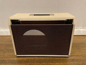 Custom Combo Cabinet 1x12 2x10 Fender Super Reverb Allen Encore Blonde & Oxblood