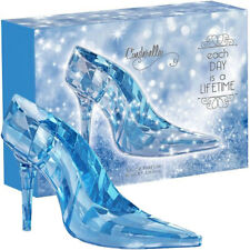 Disney Princess CINDERELLA GLASS SLIPPER Perfume Crystal Blue Flacon NEW BOX