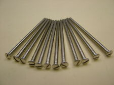 Switch socket dimmer screws extra length 75mm long pack of 12,use over tiles etc