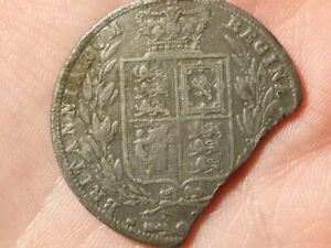 1880 Victoria Half Crown Coin CONTEMPORARY FORGERY  #Q15