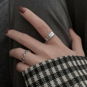 Adjustable Ring with Roman Numerals detailing 925 Sterling Silver