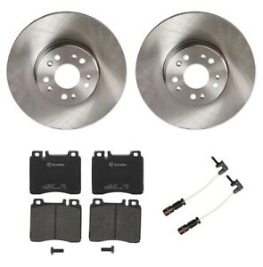 Brembo Front Brake Kit Low-Met Pads Vented Disc Rotors for Mercedes C140 W140