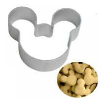 Mickey Mouse Shape Metal Cookie Cutters Lovely Cartoon DIY Baking Decor Tools