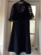 BNWT ASOS black Fit & Flare Dress With Lace Bodice - Sz 16