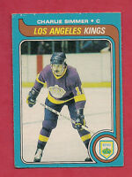 1979-80 OPC # 191 KINGS CHARLIE SIMMER  ROOKIE CARD
