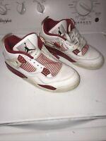 🔥Nike Air Jordan 4 Retro Men's Size 10.5 White Red 308497-106 Missing Inserts🔥