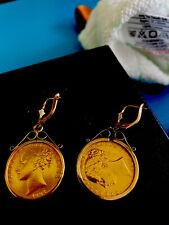 More details for 22ct full gold sovereign earrings